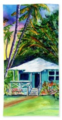 Beach Sheet featuring the painting Dreams Of Kauai 2 by Marionette Taboniar