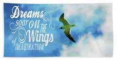 Dreams On Wings Beach Sheet