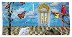 Beach Towel featuring the photograph Dreamscape Three by Ken Frischkorn