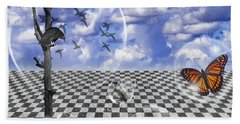 Beach Towel featuring the photograph Dreamscape Two by Ken Frischkorn