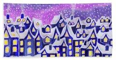 Dreamstown Blue, Painting Beach Towel