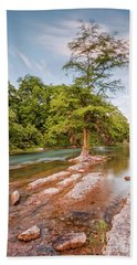 Dreamy Bald Cypress At Guadalupe River - Canyon Lake Texas Hill Country Beach Towel