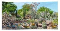 Dreamy Desert Cactus Beach Sheet