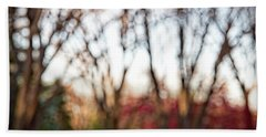 Beach Towel featuring the photograph Dreamy Fall Colors by Susan Stone