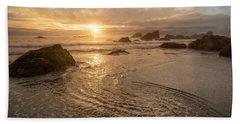 Dreamy Oregon Sunset Beach Towel