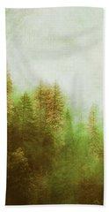Beach Towel featuring the digital art Dreamy Summer Forest by Klara Acel