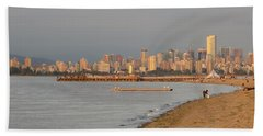 Dreamy Vancouver Skyline Beach Sheet