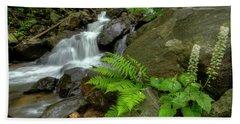 Beach Sheet featuring the photograph Dreamy Waterfall Cascades by Debra and Dave Vanderlaan