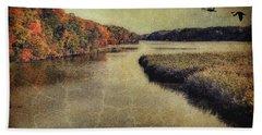 Dreary Autumn Beach Sheet