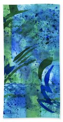 Drenched Watercolor Beach Towel by Kristen Fox