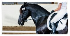 Dressage Horse Show Beach Towel