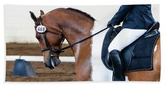 Dressage Show Horse Beach Towel