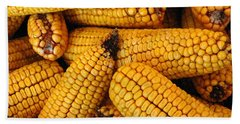 Dried Corn Cobs Beach Towel