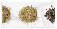 Dried Herbs And Spices Beach Sheet