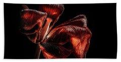Dried Tulip Blossom Beach Towel