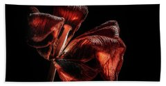 Dried Tulip Blossom Beach Towel
