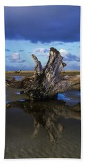 Driftwood And Reflection Beach Towel