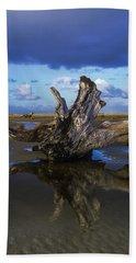 Driftwood And Reflection Beach Sheet