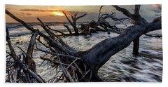 Driftwood Beach 4 Beach Towel