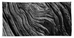 Driftwood Black And White Beach Towel