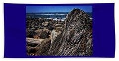 Driftwood Rocks Water Beach Towel