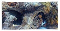 Driftwood Swirls Beach Sheet by Todd Breitling