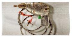 Drill Motor, Green Trigger Beach Towel