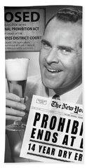 Drink Beer - Prohibition's Over Beach Towel