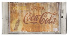 Beach Towel featuring the photograph Drink Coca Cola by Mark Greenberg