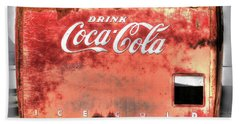 Drink Ice Cold Coca Cola Beach Towel
