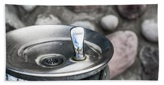 Drinking Fountain Beach Sheet