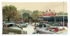 Drive In Days Beach Towel by Michael Swanson