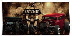 Beach Towel featuring the photograph  Drive In by Louis Ferreira