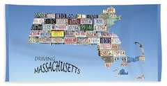 Driving Massachusetts Beach Towel