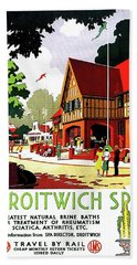 Droitwich Spa, England, Railway Poster Beach Towel