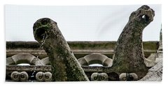 Beach Towel featuring the photograph Drooling Gargoyles by Jean Haynes