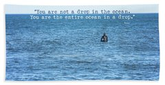 Drop In The Ocean Surfer  Beach Sheet by Terry DeLuco