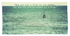Drop In The Ocean Surfer Vintage Beach Sheet by Terry DeLuco