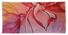 Beach Towel featuring the painting Drop Of Love by Anna Ewa Miarczynska