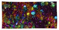 Droplet Abstract Beach Towel by Stuart Turnbull