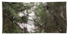 Droplets On Branches Beach Sheet