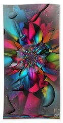 Beach Towel featuring the digital art Drops By Nico Bielow by Nico Bielow