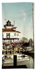 Drum Point Light Beach Towel