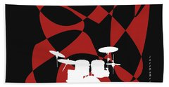 Drums In Black Strife Beach Towel