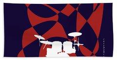 Drums In Purple Strife Beach Sheet by David Bridburg