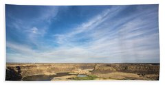 Dry Fall, Washington Beach Towel by Jingjits Photography