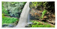 Beach Towel featuring the photograph Dry Falls Highlands North Carolina 2 by Lisa Wooten