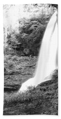 Dry Falls In Black And White Beach Sheet