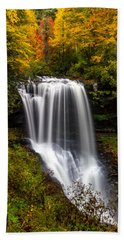Dry Falls In October  Beach Towel