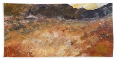 Beach Towel featuring the painting Dry River by Norma Duch